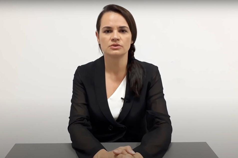 Die Oppositionelle Tichanowskaja hat die Sicherheitskräfte mehrfach aufgefordert, keine verbrecherischen Befehle mehr gegen friedliche Demonstranten auszuführen.