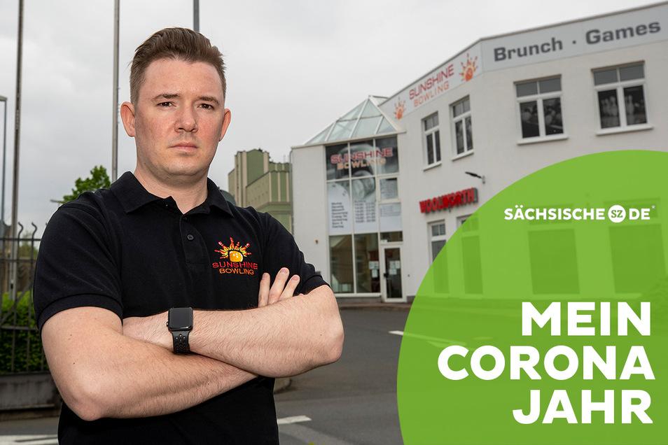 Jens Koser ist der Inhaber von Sunshine-Bowling in Pirna.
