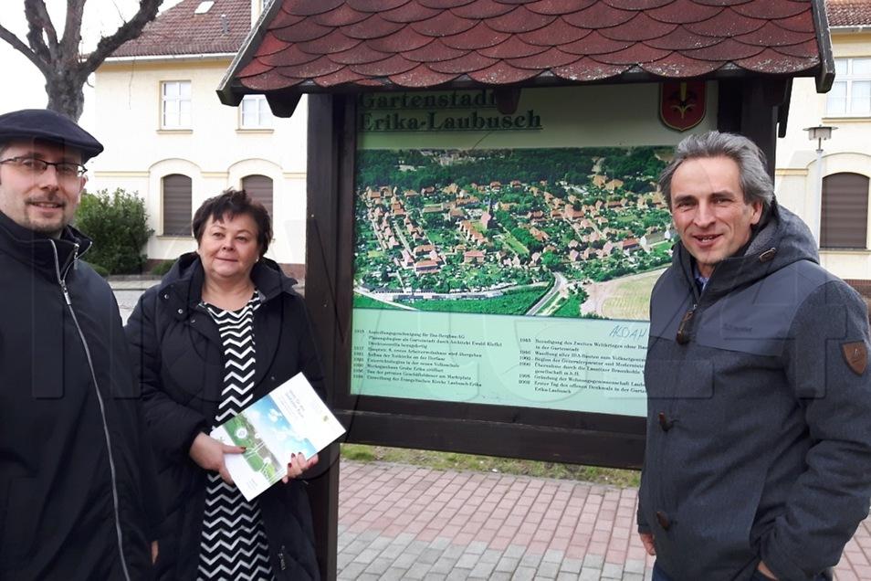 Bürgermeister Frank Lehmann (v.l.), Lautech-Geschäftsführerin Kathrin Schlesinger und der Kommunikationsberater Mathias Priebe.