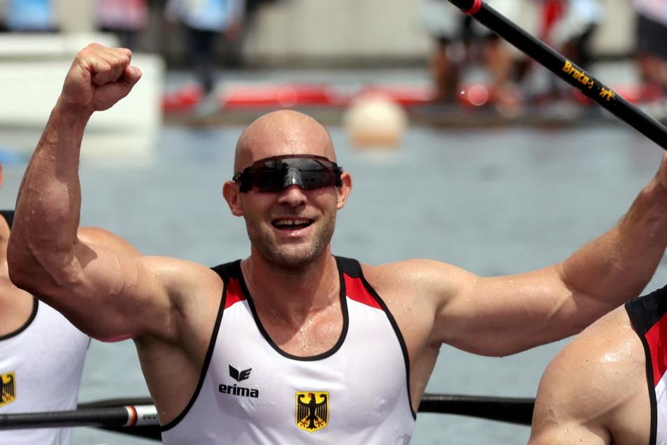 Olympiasieger Ronald Rauhe, der mit dem Kajak-Vierer Gold gewann, wird am Sonntag bei der Schlussfeier die deutsche Fahne tragen.