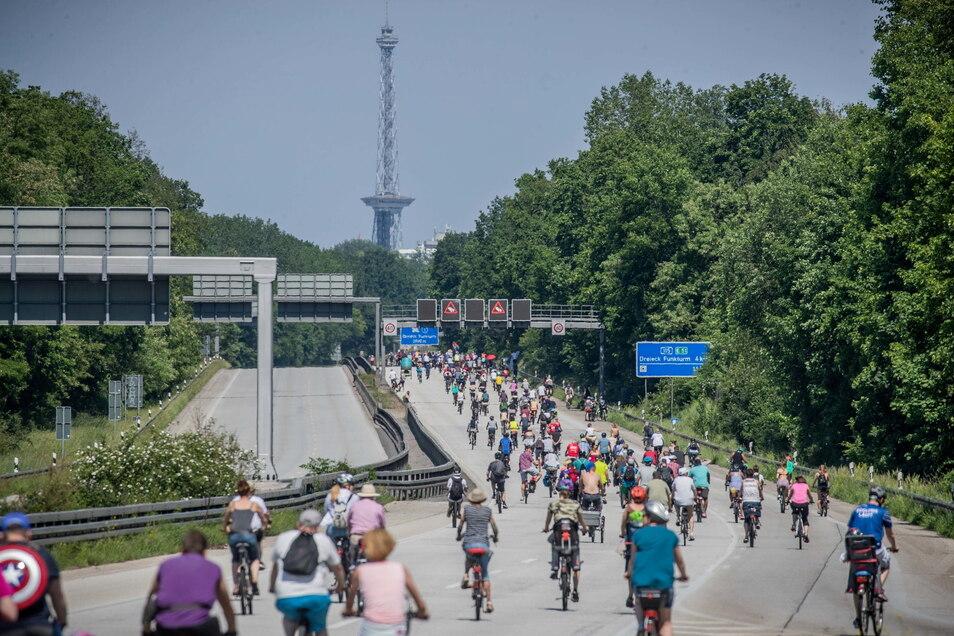 In Berlin wird immer wieder gegen Ausbau der A100 protestiert