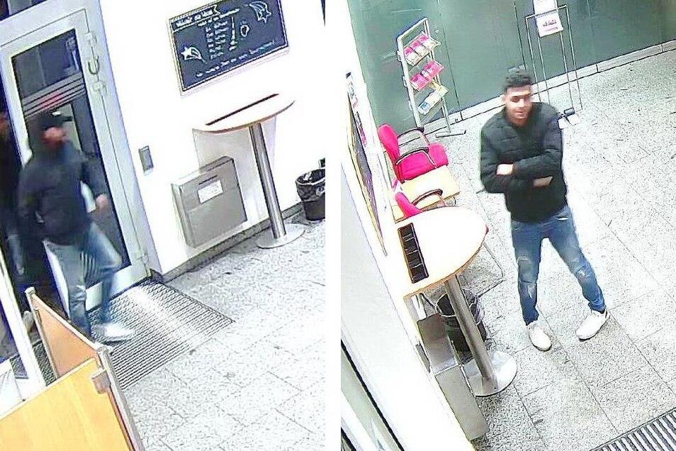 Die Polizei fahndet nach diesen beiden Männern. Sie stehen im Verdacht, im Dezember letzten Jahres in einer Bankfiliale in Bernsdorf mit einer gestohlenen EC-Karte Geld abgehoben zu haben.
