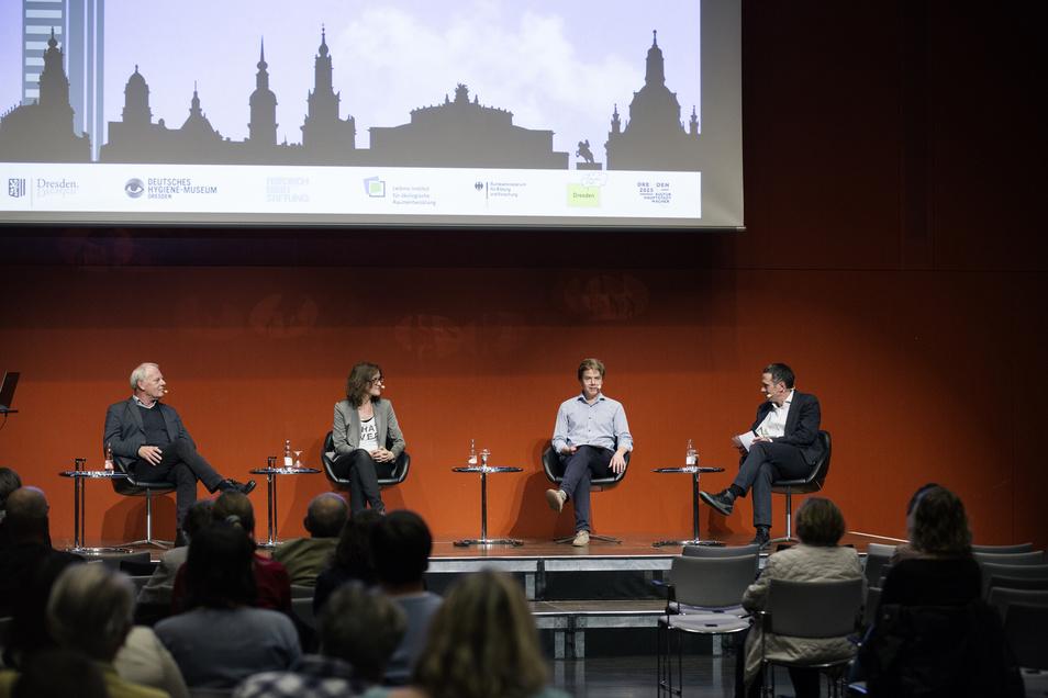 In der Diskussionsreihe im Hygiene-Museum geht es darum, wie wir leben wollen. Dazu diskutieren Experten und engagierte Dresdner.