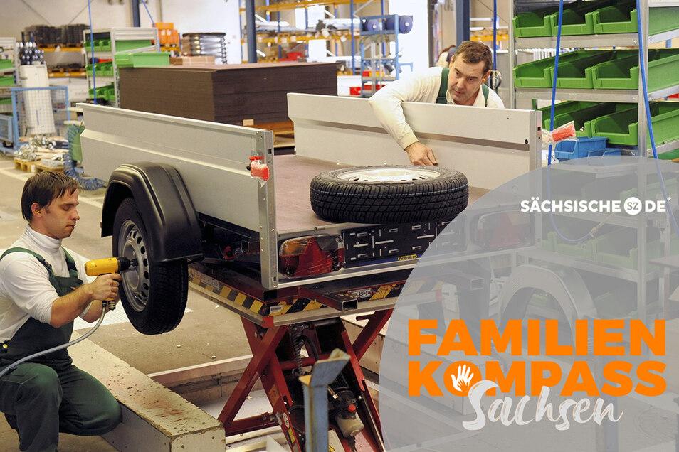 Die Stema Metallleichtbau ist einer der größeren Arbeitgeber in Großenhain. Hier werden Autoanhänger montiert.