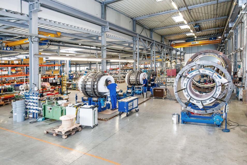Die Firma Partzsch Elektromotoren hat in diesen Tagen trotz Corona-Krise noch gut zu tun.