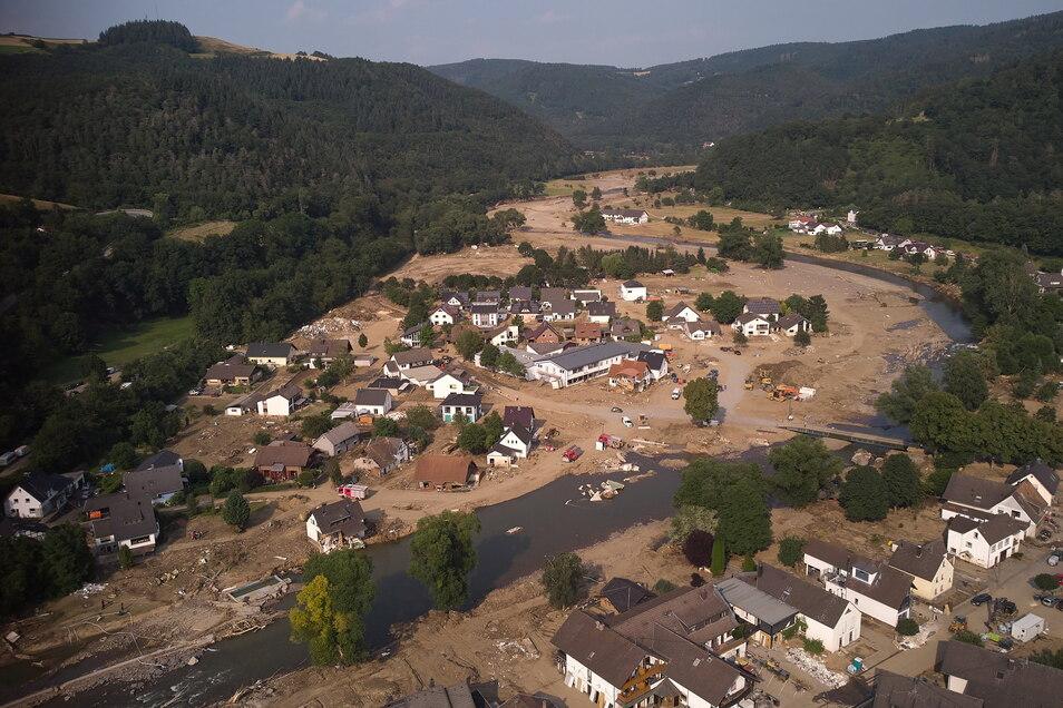 Hochwasserschäden in der Gemeinde Insul im Ahrtal am 22. Juli.