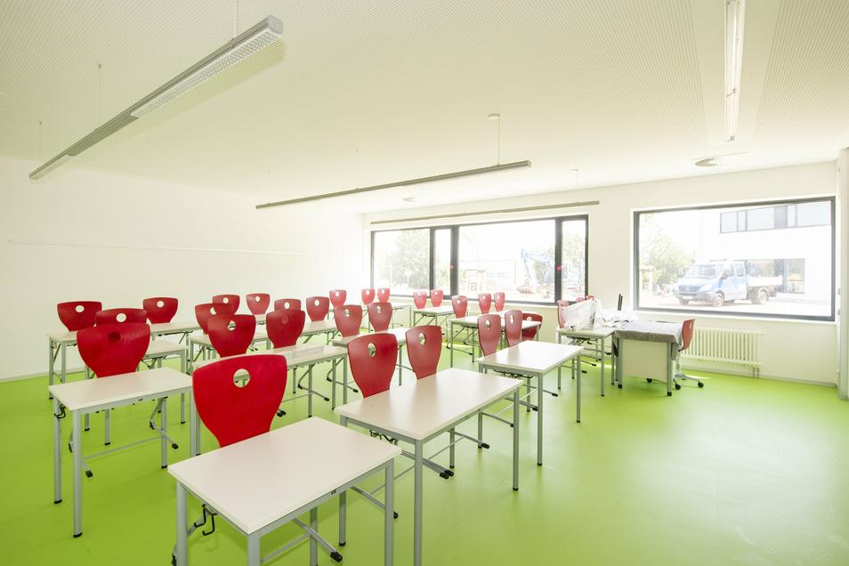 Blick in ein Klassenzimmer.