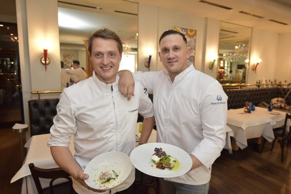 Tobias Moc (li.) und Sebastian Strobel sind die neuen Küchenchefs.