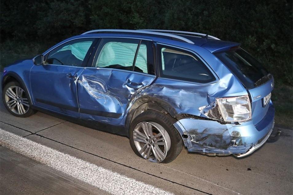 Dieser Skoda war eines von fünf demolierten Autos.