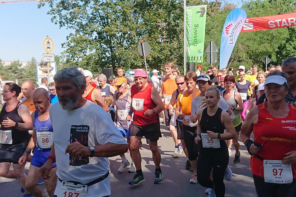 Solch einen Andrang wird es in diesem Jahr nicht geben, der 41. Coswiger Sachsenlauf ist abgesagt. Aber die Lauf- und Freizeitsportler können auf den 30. Kleinen Sachsenlauf Coswig am 7. November hoffen.