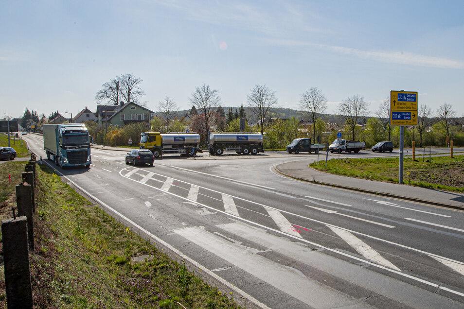 In Laußnitz beginnen jetzt Bauarbeiten auf der B 97. Dort wird ein größerer Abschnitt saniert.