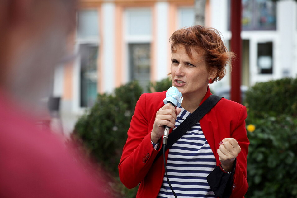 Die langjährige Bundeschefin Katja Kipping will für Sachsens Linke wieder in den Bundestag.