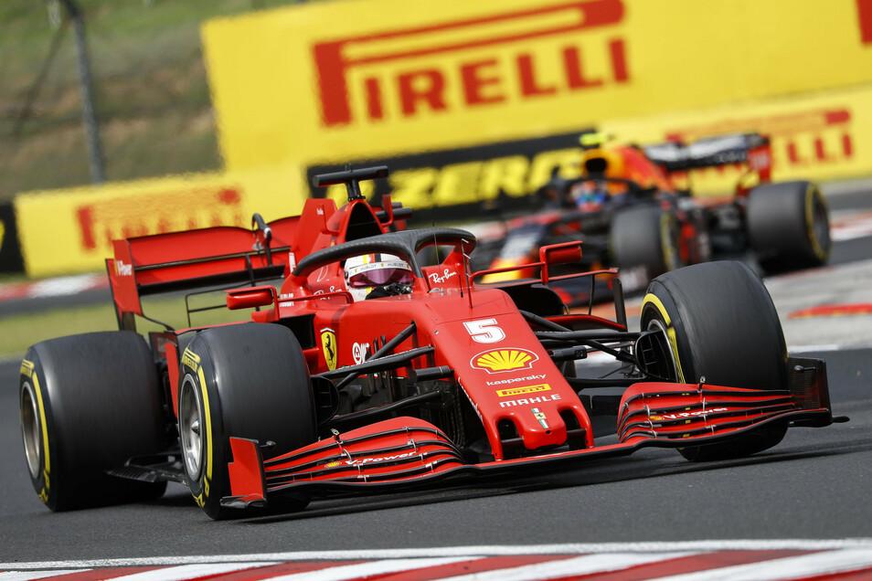 Sebastian Vettel wird in Ungarn nur Sechster.