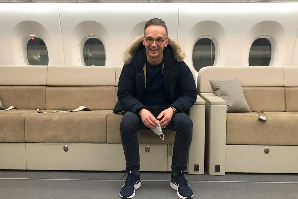 Maas ist als erstes Mitglied der Bundesregierung mit dem neuen Flugzeug zu einem Staatsbesuch gestartet - auf Bad und Schlafzimmer musste er verzichten.