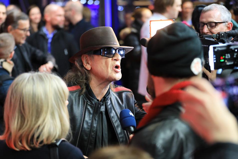 """Udo Lindenberg bei der Premiere seines Kinofilms """"Lindenberg! Mach dein Ding!"""" in Hamburg. Der Film startet am 16. Januar 2020 in den Kinos."""