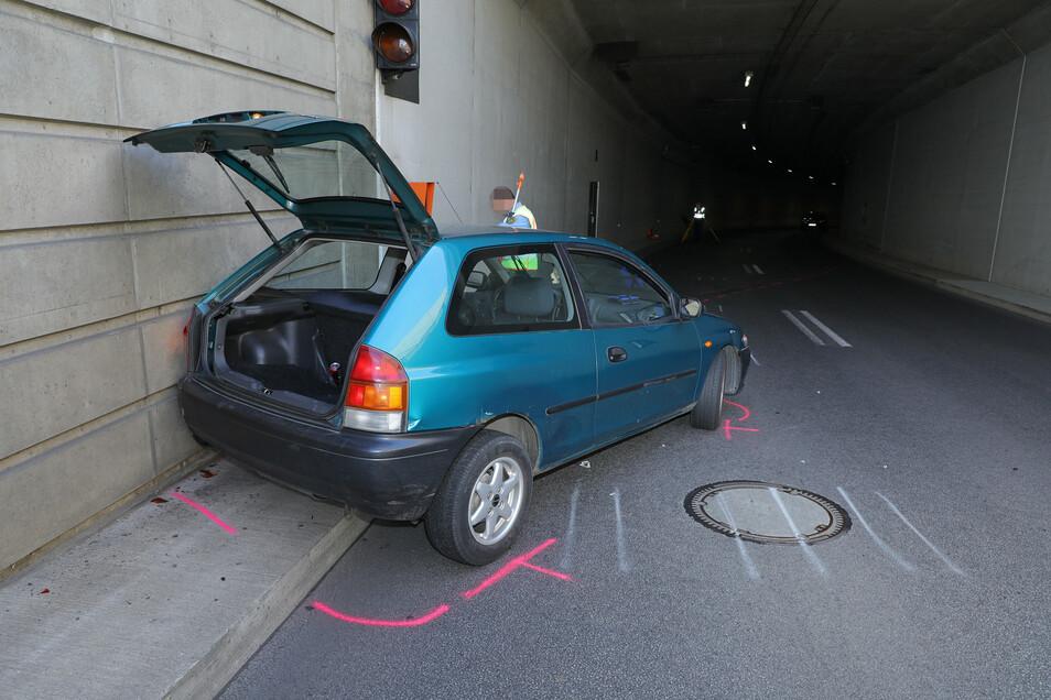 Im Waldschlösschen Tunnel ist es am Mittwoch zu einem Unfall gekommen.