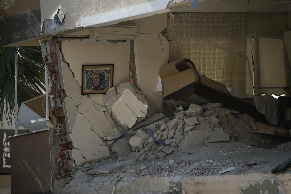 Überreste eines Wohnzimmers