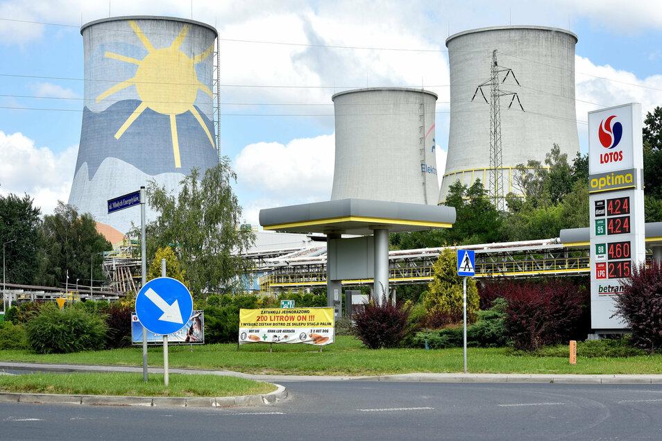 Blick auf das Kraftwerk Turow.