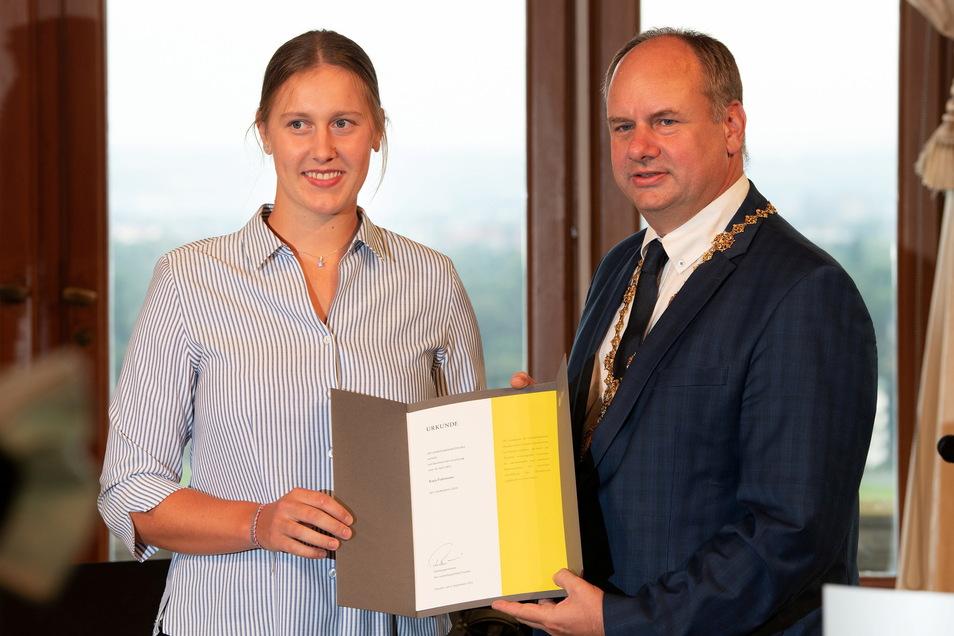 Einen weiteren Sonderpreis erhielt Ruderin Katja Fuhrmann vom Laubegaster Ruderverein.