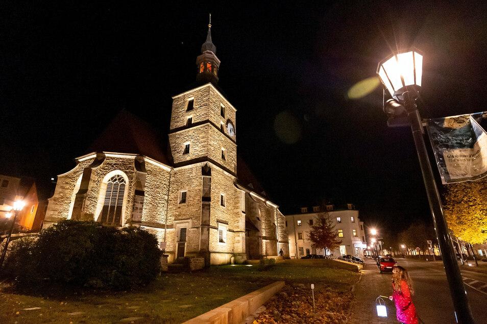 Die Kirche mit Blick in Richtung Oberstadt.