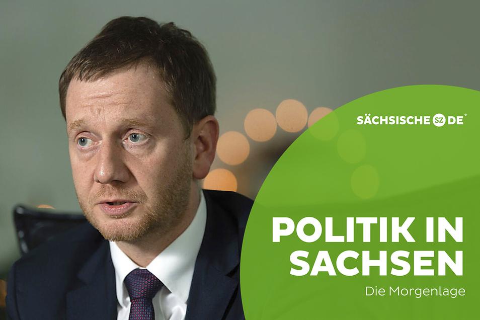 Michael Kretschmer (CDU), Ministerpräsident von Sachsen, erwägt leichte Lockerungen bei den bundesweit geplanten Kontaktbeschränkungen.