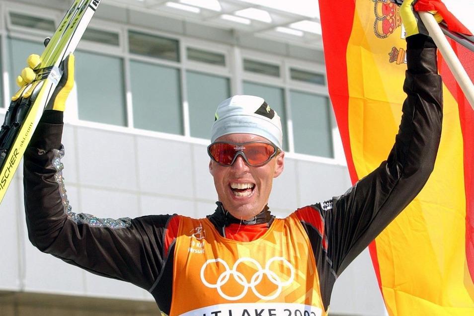 Johann Mühlegg siegt auch bei den Olympischen Winterspielen 2002 in Salt Lake Ciry und verliert am Ende alles.