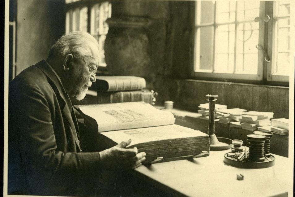 Historiker, Stadtarchivar und Görlitzer Ehrenbürger Richard Jecht (1858-1945)