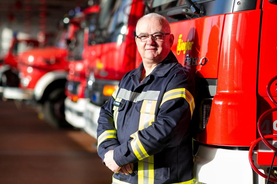 Wehrleiter Andreas Schorbogen hat den Einsatz mit fast 30 Kameraden in der Nacht zum Sonntag geleitet.
