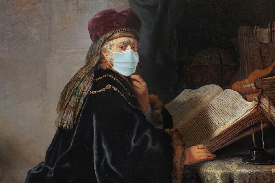 """Rembrandts """"Gelehrter in seinem Studierzimmer"""" aus dem Jahr 1634 sollte ab 17. April 2020 in der Ausstellung """"Rembrandt. Porträt des Menschen"""" in der Prager Nationalgalerie zu sehen sein. Wegen Covid-19 wurde die Eröffnung zunächst auf den 19. Juni versch"""