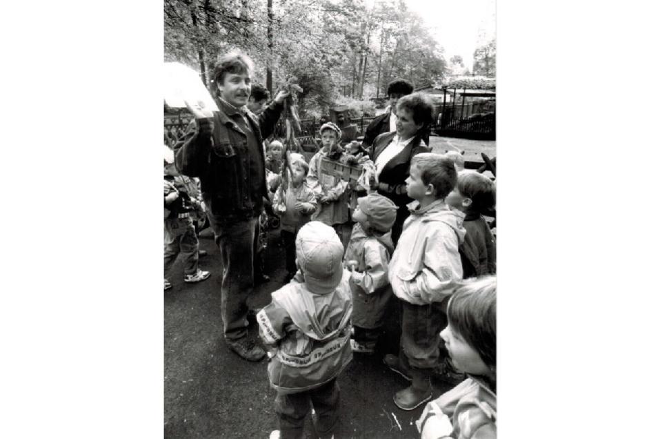 Schulklassen und Kindergruppen besuchen heute wie gestern gern den Zittauer Tierpark.