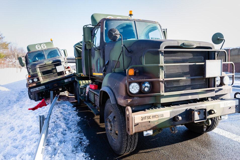 Ein Winterunfall in diesem Februar mit dem US-Militär auf der Autobahn A 4.