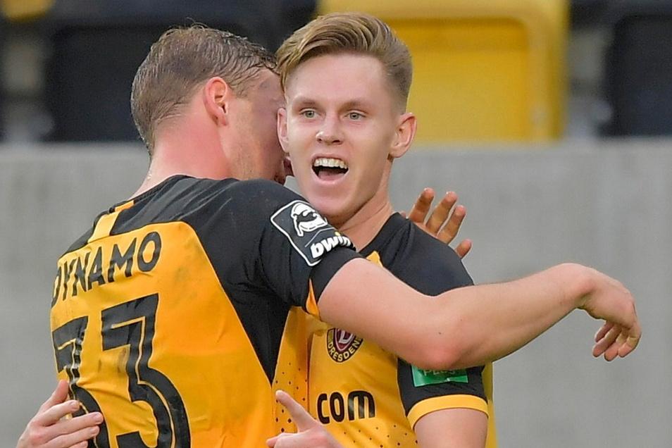 Julius Kade erzielte für Dynamo drei Tore - jetzt macht der Aufstiegsheld aber schon wieder den Abflug.