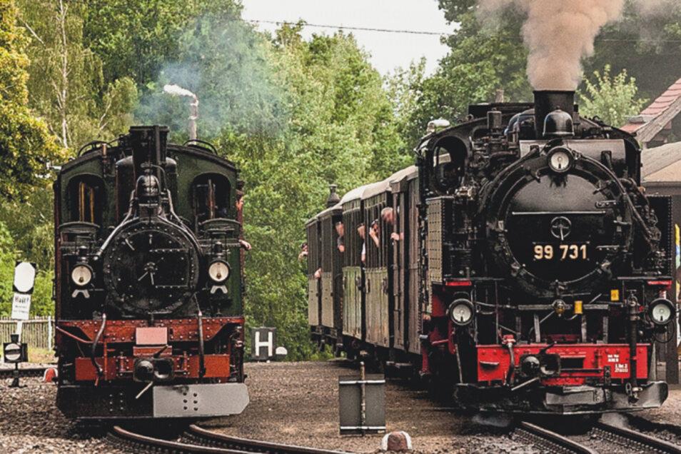 Im Zittauer Gebirge sind am ganzen Wochenende die Dampfloks unterwegs.