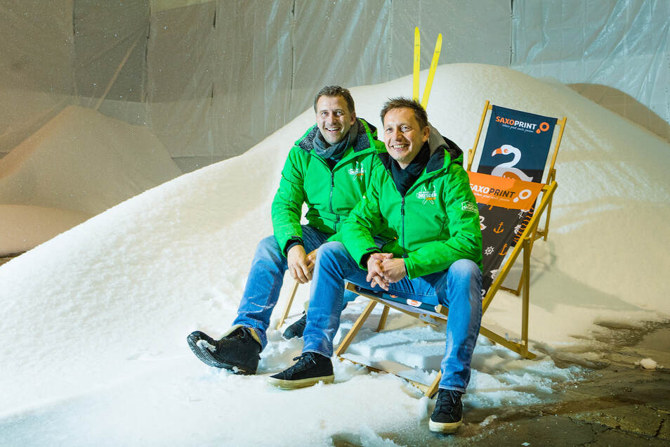 Die Organisatoren: René Kindermann (l.) und Torsten Püschel.