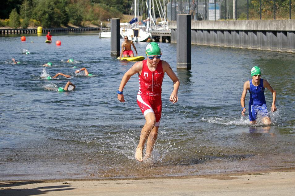 Der 15° Swin-'n'-Run-Wettkampf am Hafen des Berzdorfer Sees muss in diesem Jahr ausfallen.