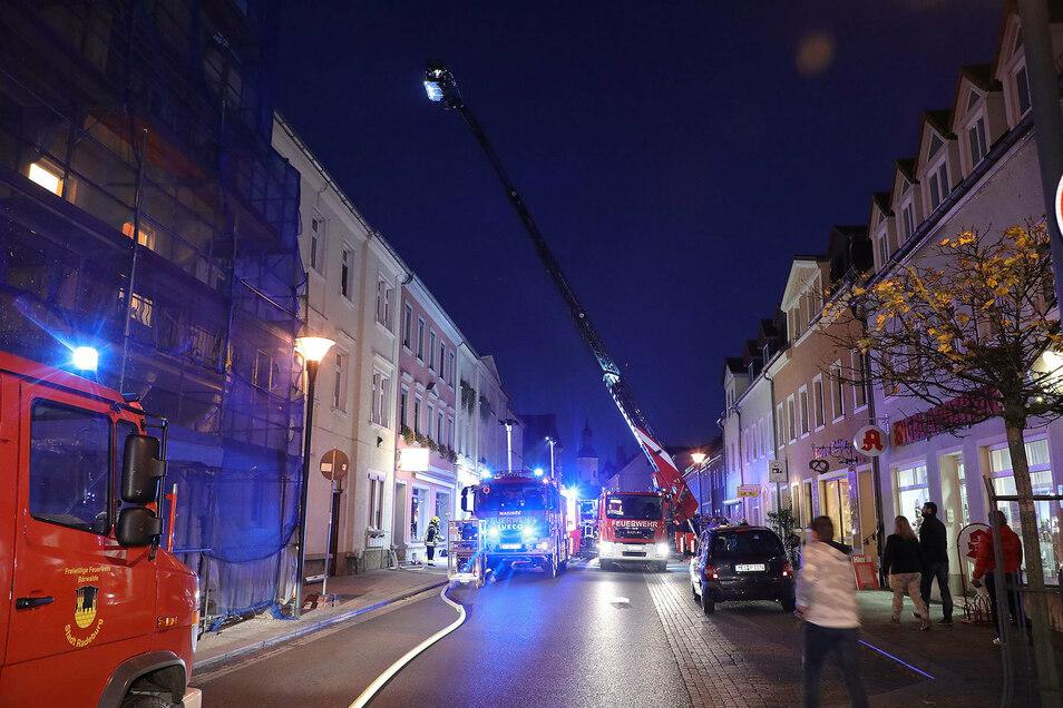 Freitagnachmittag wurde die Feuerwehr nach Radeburg gerufen.