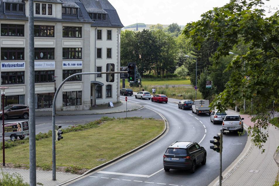 Auf der Carl-Thieme-Straße Richtung Tharandt geht es zurzeit meist nur sehr langsam vorwärts.