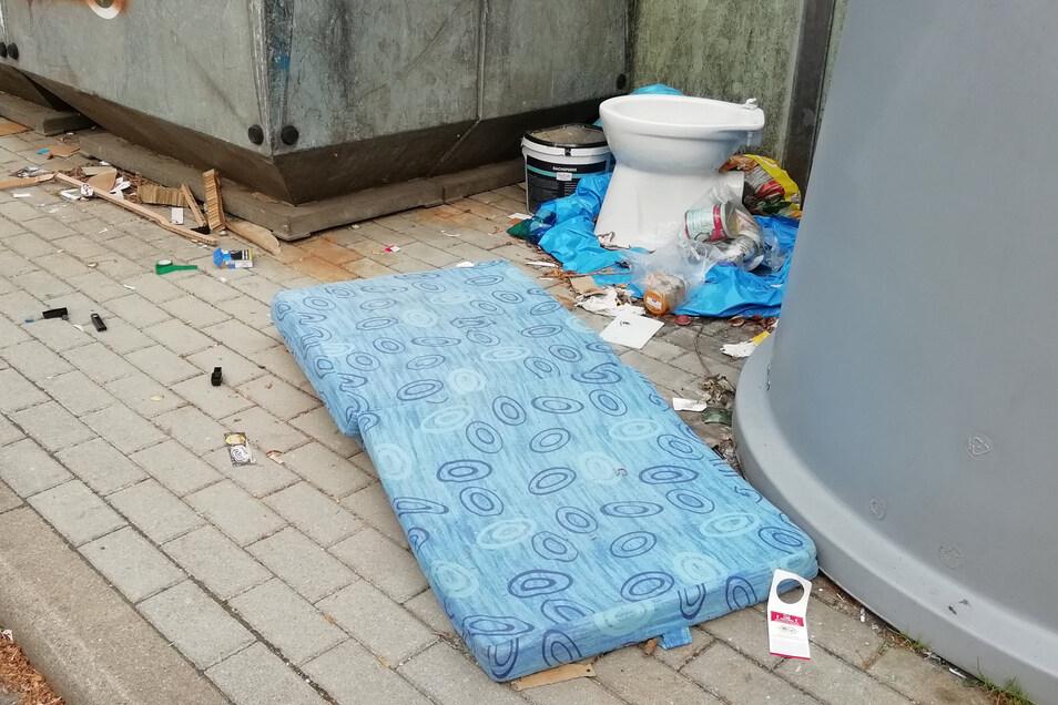 Wertstoffcontainer in Pulsnitz werden immer wieder als Müllplatz missbraucht.