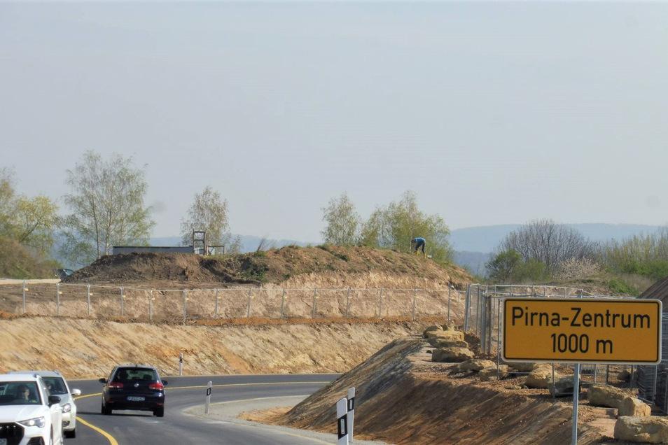 Nordumfahrung am Pirnaer Autobahnzubringer: Alles vorbereitet, um die Südumfahrung anzubinden.
