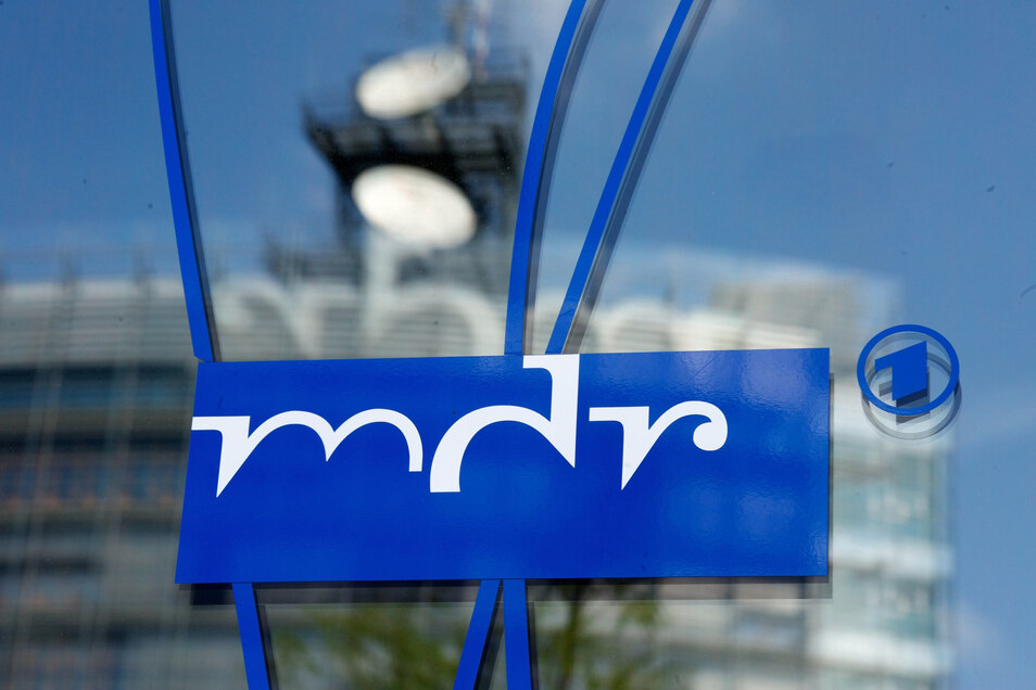 Das Logo des Mitteldeutschen Rundfunks MDR, aufgenommen in Leipzig.