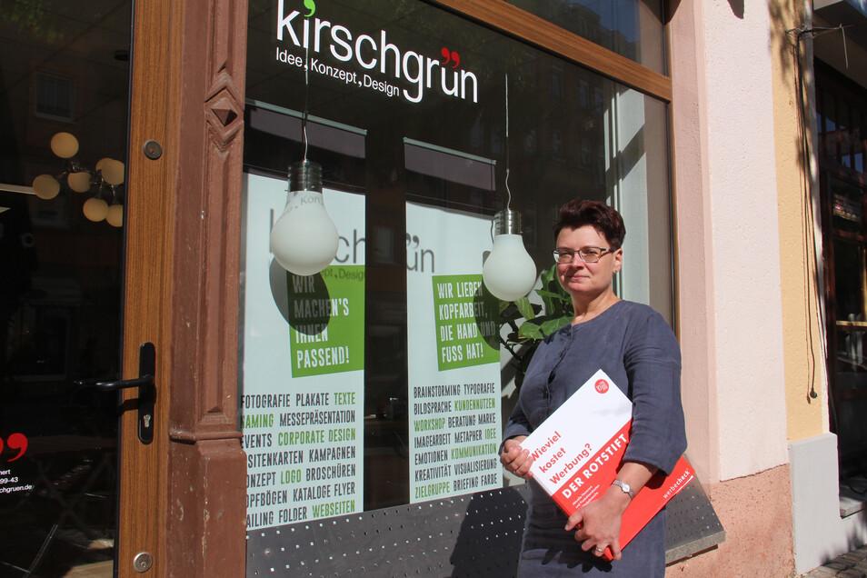 """Sybille Mehnert ist mit ihrer Agentur """"Kirschgrün"""" von Görlitz nach bautzen um gezogen."""