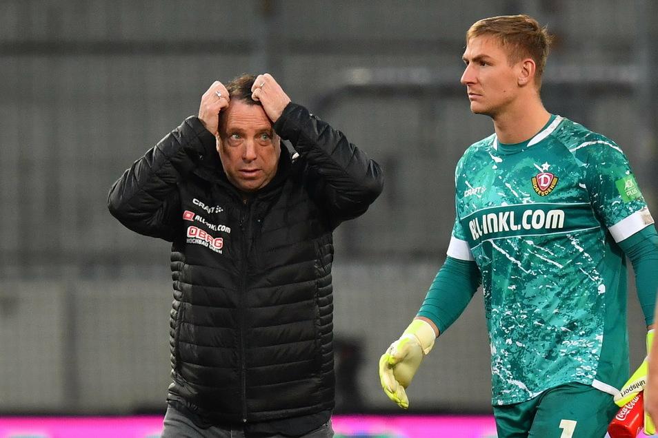 Zum Haareraufen war die Leistung von Torhüter Kevin Broll in Köln nicht. Doch Trainer Markus Kauczinski sah einen schweren Patzer.