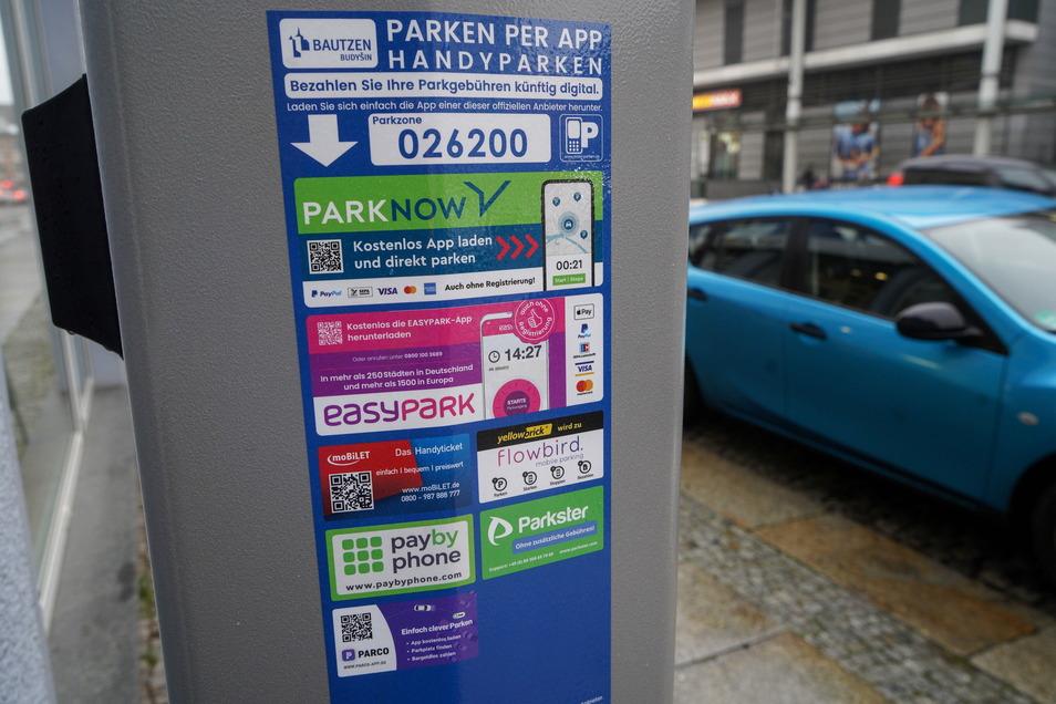 Über diese sieben Apps ist derzeit das Handyparken in Bautzen möglich.