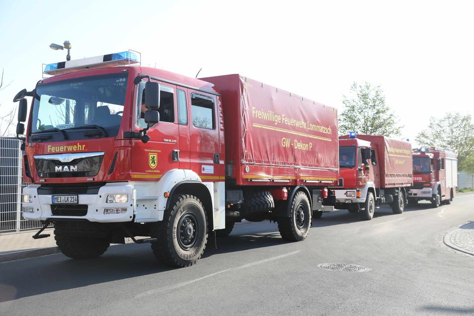 Wie hier in Radebeul war die Feuerwehr am Wochenende mehrfach im Einsatz.