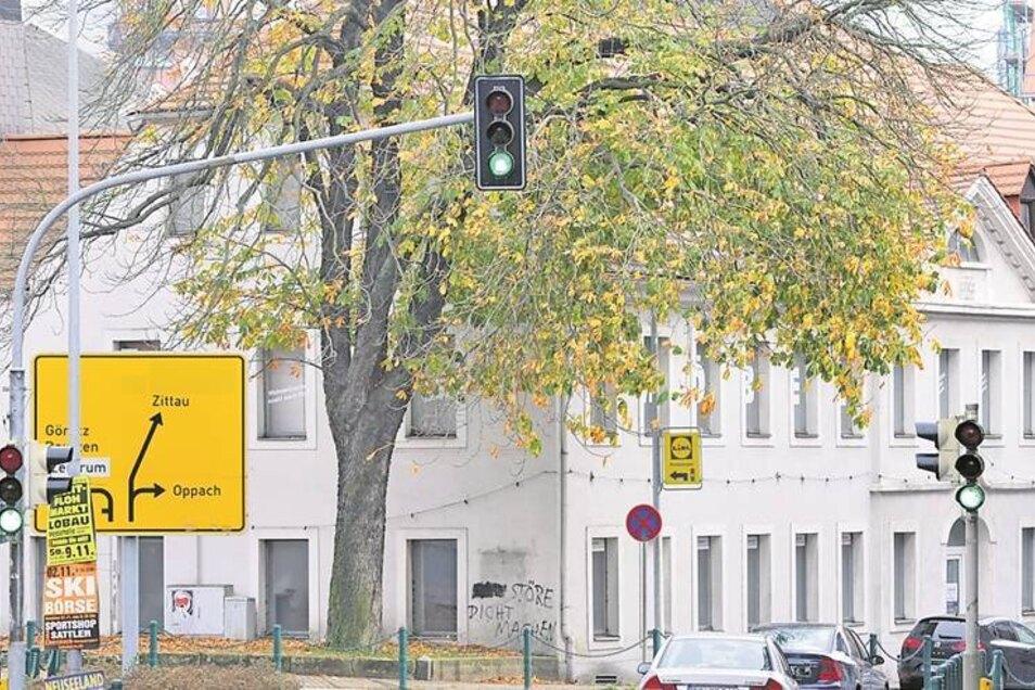 Die frühere SED-Kreisleitung, das historische Postgebäude, der ehemalige Möbelhandel und das einstige Gewandhaus (im Uhrzeigersinn): Auch wenn dieses Jahr viele Gebäude in der Löbauer Innenstadt saniert worden sind, auch für die kommenden bleibt noch eini