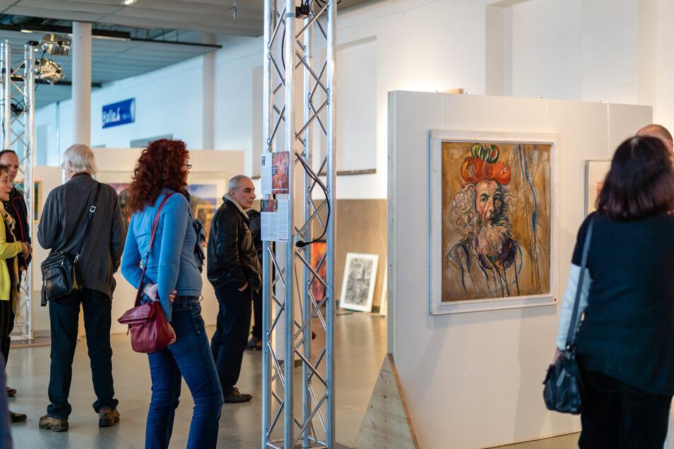In der Messe Dresden konnten Kunstinteressierte am vergangenen Wochenende einen kleinen Einblick in das Schaffen von Heinz-Detlef Moosdorf gewinnen.