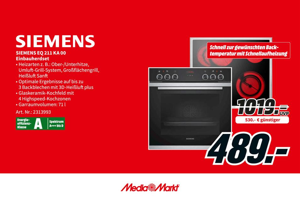 Siemens EQ 211 KA 00 Einbauherdsaet jetzt 530€ günstiger