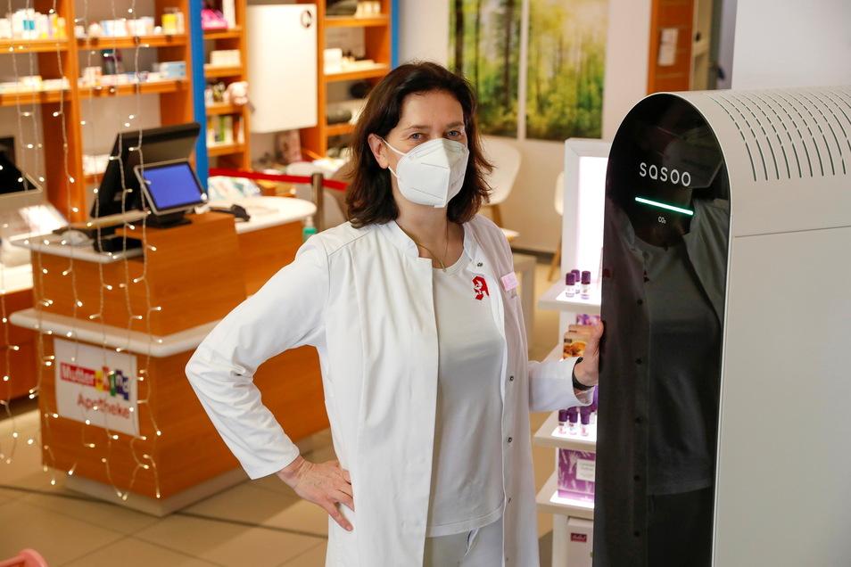 Apothekerin Birgit Schleicher betreibt in Löbau ein Testzentrum.