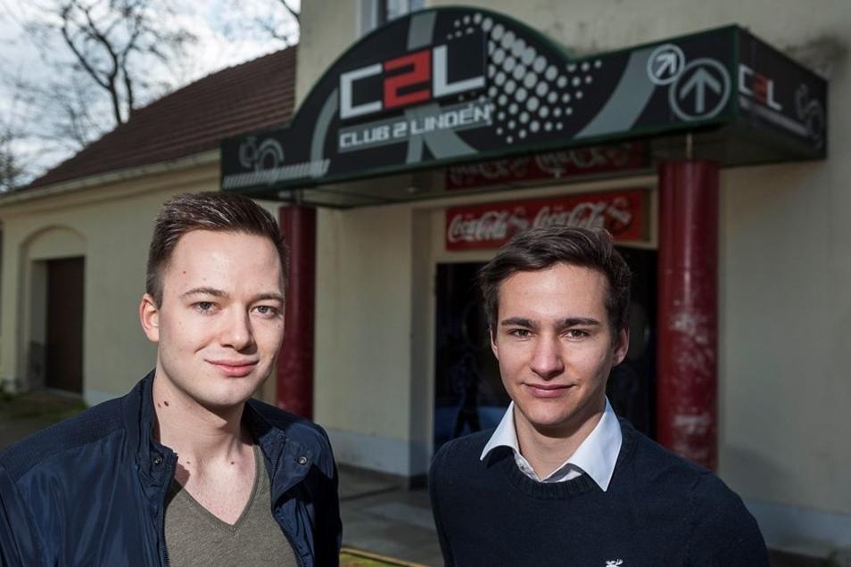 """Robert Schulze und Florian Herbst, beide 22 Jahre alt, wollten sich der """"Zwei Linden"""" mit Begeisterung annehmen."""