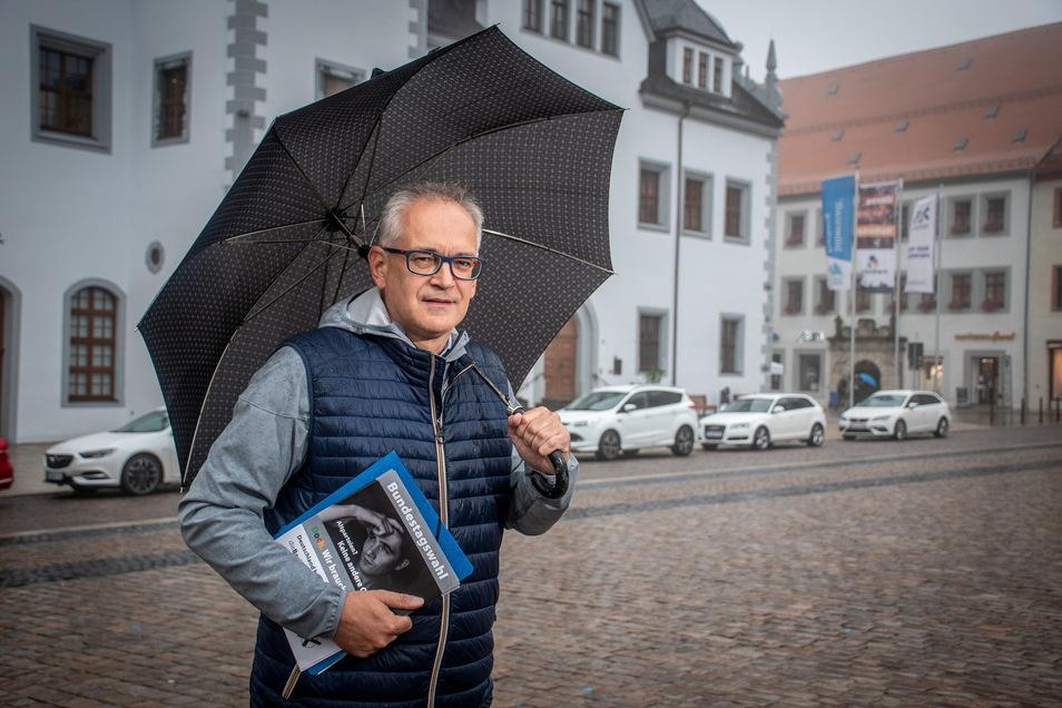 Thomas Linke (Die Basis) will unter anderem für eine gute finanzielle Ausstattung der Gemeinden kämpfen.